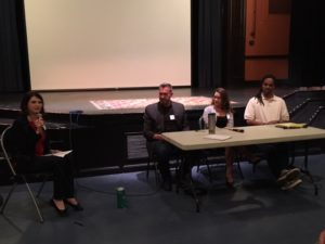 Natalie and our panel: Ward, Kelly, and Roy.
